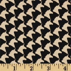 Michael Miller Unicorn Houndstooth Taupe from @fabricdotcom  From Michael Miller, this cotton print is perfect for quilting, apparel and home decor accents.  Colors include black and taupe.