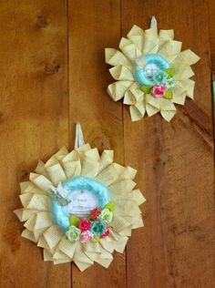 Shabby chic book wreaths