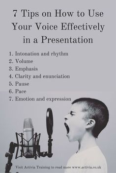 This article looks at 7 Ways to use your voice effectively while doing a presentation Digital Communication, Effective Communication, Oral Communication Skills, Presentation Skills Training, Leadership, Speech And Debate, Public Speaking Tips, Public Speaking Activities, Presentation Video
