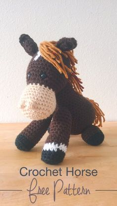 {FREE} Amigurumi Crochet Horse pattern by Colour and Cotton