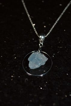 Celestite Necklace . Celestite Wire Hoop Necklace . Reiki Healing Celestite Necklace . Crown and Third Eye Chakra Healing Necklace by StarshineInnovations on Etsy