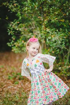 Spring Rain Girls Dress Pastel Spring Dress by PinkMouseKids