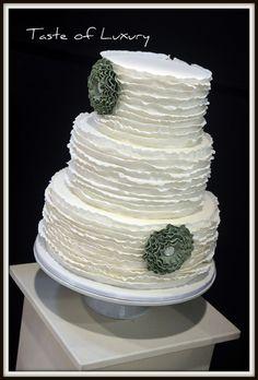 Austin Ruffle Wedding Cake by Taste of Luxury, via Flickr