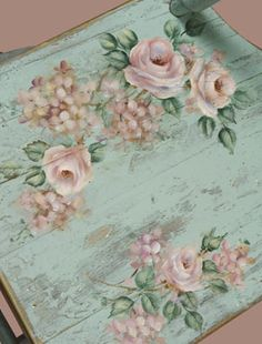 Shabby Vintage Crafts of Home Decor Stores Louisville Ky except Home Decorators Collection Double Vanity other Home Decor Gothic Style soon Rustic Shabby Chic Interior Design Rose Cottage, Shabby Chic Cottage, Shabby Chic Homes, Shabby Chic Style, Painted Chairs, Hand Painted Furniture, Shabby Vintage, Vintage Crafts, Muebles Shabby Chic