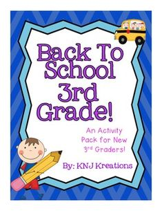 This is a pack full of activities for new third graders at the beginning of the year! It incorporates the number 3 into many different kinds of activities, including icebreakers, getting to know you, word building, math and writing skills.