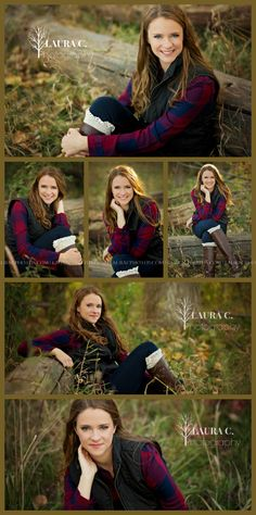 Sara Luedders | Senior Portraits in the Woods | Forest | Trees | Leaves | Fall | Autumn | Laura C. Photography 2015 | Professional Senior Photographer based in Gretna, NE
