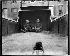 Their playground a truck, Baxter Street. (1890)