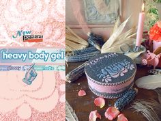 Pentart dekor: Új Pentart termékek - Heavy body gel Body Gel, Alex And Ani Charms, Medium Art, Mixed Media Art, Peridot, Decoupage, Scrapbook, Paint, Scrapbooks