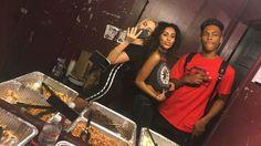 Jordyn Jones with Devin Gordon Daniella Perkins #shoot #jordynjones #devingordon #daniellaperkins at #allmyfriendstour