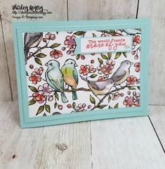 Stampin' Up! Free as a bird, Bird Ballad suite Bee Cards, Stampin Up Catalog, Stamping Up Cards, Flower Cards, Scrapbook Cards, Homemade Cards, I Card, Cardmaking, Birthday Cards