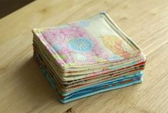 Fabric Coasters tutorial: A Quick and Easy Sewing Project | Angie's Art Studio