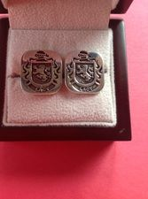 Lacy family crest cufflinks