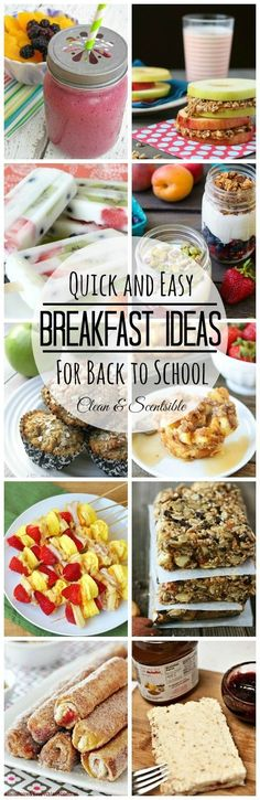 Lots of quick, easy, and healthy breakfast ideas! // cleanandscentsibl...