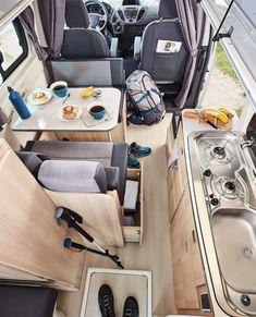 Bus Camper, Camper Van Life, Sprinter Camper, Popup Camper, Vw Bus, Custom Camper Vans, Custom Campers, Ford Transit, Travel Trailers