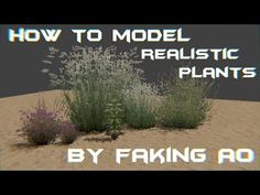 How to model realistic plants in bge by faking AO - YouTube