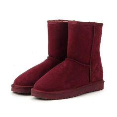 c7689416bab84c Classic Genuine Cowhide leather Wool Women Boots Warm winter shoes for  women large size 34-44