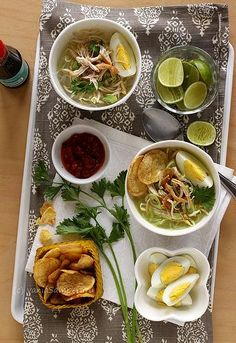 Madura Chicken Soup - soto ayam Madura...sounds good, but this recipe is for those days when you really feel like spending time in the kitchen prepping/cooking.