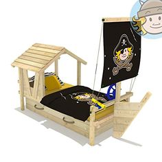 childrens bed captain octopus made of natural state pollutant free pine wood wickey has a wide selection of loft beds and childrens bed - Lit Pirate