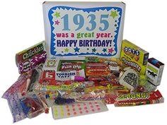 80th Birthday Gift Basket Box 1935 - Retro Nostalgic Candy Woodstock Candy http://www.amazon.com/dp/B000W61QVE/ref=cm_sw_r_pi_dp_1C-Rub00RJAZM