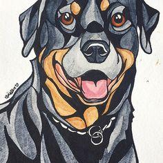 Dog Art #12: Brutis the Rottweiler