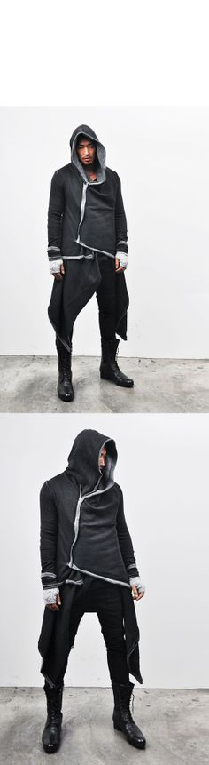 Tops :: Hoodies :: Avant-gard​e Haute Couture Hood Coat-Hoodie 28 - Mens Fashion Clothing For An Attractive man