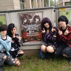 "#BABYMETAL album promotional poster found in Dusseldorf, #Germany! Photo via ""choi_levi"" on Instagram"