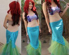 DIY Mermaid costume DIY ariel little mermaid costume (5)