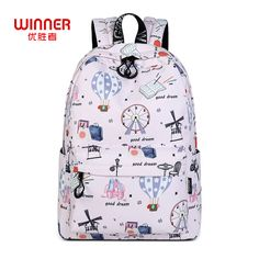 3bf115a9d740 Find More Backpacks Information about WINNER Backpack Teenager Cartoon  School Printing Bags Large Capacity Student Daypacks