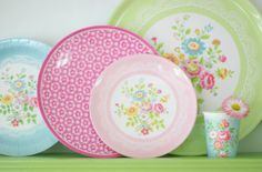 greengate floral plates