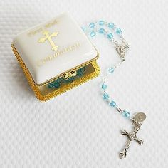 Personalized Porcelain Rosary Case - Religious Gift