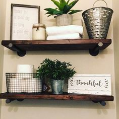 Reclaimed wood shelves, DIY project
