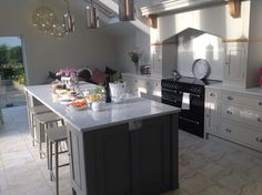 Farrow and ball moles breath and Purbeck stone. Kitchen by dovetail kitchens cowling Kitchen Paint, Kitchen Redo, New Kitchen, Kitchen Dining, Kitchen Ideas, Kitchen Units, Kitchen Cabinets, House Every Weekend, Purbeck Stone