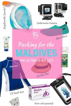 Packing for the Maldives: The ULTIMATE Kit List - You're heading to the Maldives. What do you take? Bikini, flip-flops, sunglasses – obviously. But what else? Click now to see my ULTIMATE Maldives' packing list and there'll be no trouble in paradise for you.