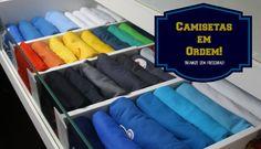 Como organizar Camisetas na gaveta e Ganhar Mais Espaços | Organize sem Frescuras! - http://www.decoracaodecoracao.com/como-organizar-camisetas-na-gaveta-e-ganhar-mais-espacos-organize-sem-frescuras #decoração - #arquitetura - #paisagismo