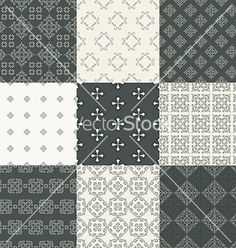 Pattern set vector - by Favete on VectorStock®