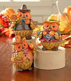 Add a touch of holiday decor to any room with this Set of 3 Halloween or Harvest…