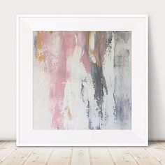 Large pink and grey painting pink white painting metallic abstract gold abstract light pink painting metal wall art gold decor pink square a by GlamGoldArt on Etsy Grey Wall Art, Pink Wall Art, Metal Tree Wall Art, Pink Art, Pink Painting, Painting Metal, Marble Painting, Painting Tips, Painting Techniques