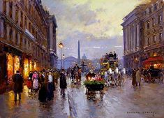 "Edouard Leon Cortes · ""Concorde and Rue Royale"" (1900)"