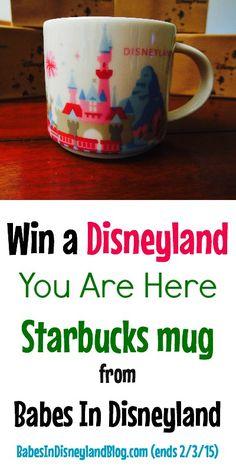 Win a Disneyand You Are Here Starbucks mug via @lisamrobertson with Babes in Disneyland