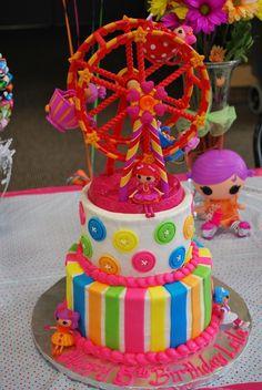 lalaloopsy party | Lalaloopsy Party Supplies / Lalaloopsy cake  {CHECK} - Perfect!  And simple!