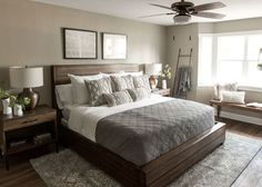 8 Easy And Cheap Tips: Farmhouse Bedroom Remodel simple bedroom remodel spaces.Guest Bedroom Remodel Closet Doors rustic bedroom remodel home. Taupe Bedroom, Master Bedroom Design, Home Decor Bedroom, Bedroom Furniture, Bedroom Designs, Diy Bedroom, Master Suite, Master Bedrooms, Night Bedroom