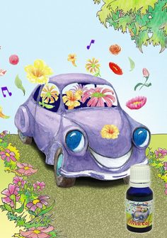 Essential Oils for a Happy, Wholesome Car. Enjoy a divine car with these natural, deodorising and refreshing pure essential oils to keep you alert and relaxed. Litsea Cubeba, Blue Glass Bottles, Practical Gifts, Pure Essential Oils, Recycling, Pure Products, Car, Automobile, Upcycle