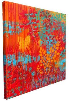 """GRITTY PRETTY I"" (SIDE VIEW) Textured original contemporary abstract artwork created with acrylic and spray paint on chunky canvas, featuring a high-gloss clear solid glaze on parts of the surface. http://www.hannahvanbergen.co.uk/gritty-pretty/391334_gritty-pretty-i-side-view.html"