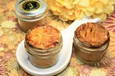 Mini Apple Pies, Gourmet Mini Fruit Pie in the Jar, Edible Gift Basket - 3 pcs