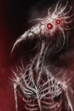 Demon Spirit by Eemeling skeleton undead bird humanoid monster beast creature animal   Create your own roleplaying game material w/ RPG Bard: www.rpgbard.com   Writing inspiration for Dungeons and Dragons DND D&D Pathfinder PFRPG Warhammer 40k Star Wars Shadowrun Call of Cthulhu Lord of the Rings LoTR + d20 fantasy science fiction scifi horror design   Not Trusty Sword art: click artwork for source