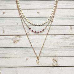 Layered Ruby Choker  Coin Chain Choker  Layered by MarleeCWatts