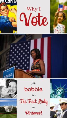 #WhyIVote — Click-through to join Babble and the First Lady on Pinterest!