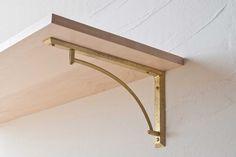 棚受け / MATUREWARE by FUTAGAMI / 真鍮鋳肌の建築金物