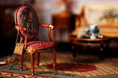 dollhouse miniature chair.