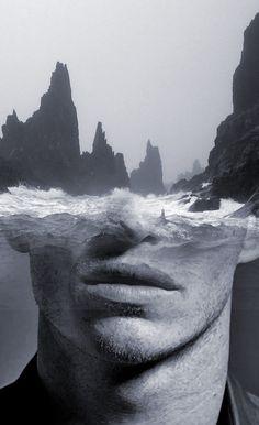 young poseidon | art | black & white | drawing | portrait | emotion | amazing artworks | www.republicofyou.com.au